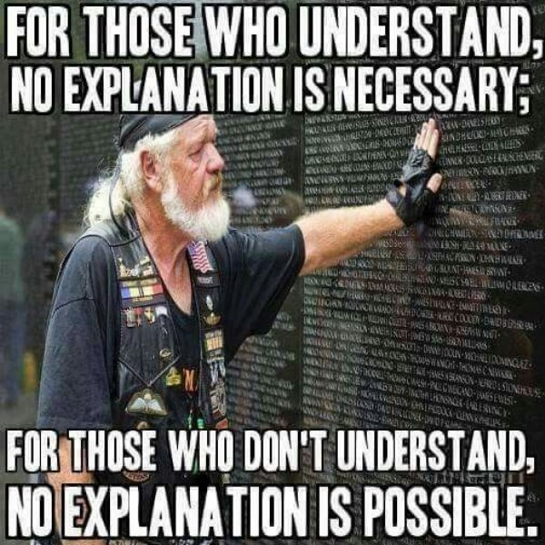 For those who understand, no explanation is necessary. For those who don't understand, no explanation is possible.